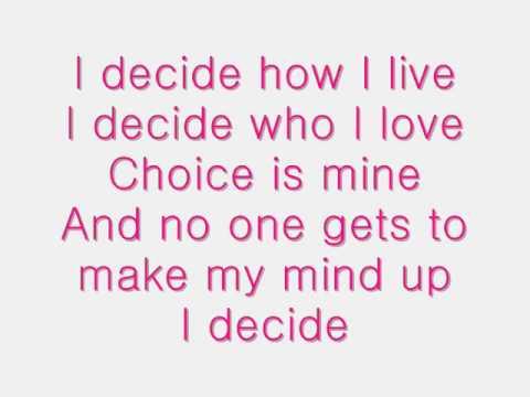 I Decide - Lindsay Lohan lyrics