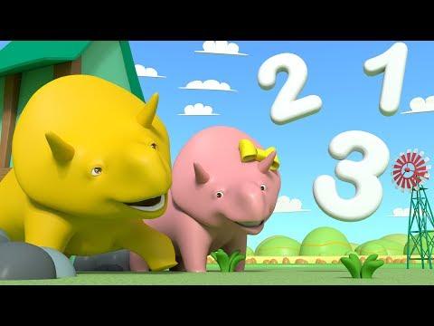 Aprende NUMEROS mirando las nubes con Dino y Dina los Dinosaurios   Aprende Español