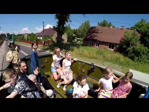 #26 Muzeum w Drzonowie przejazd zabytkowym Transporterem opancerzonym  BTR-152 (05-06-2016)