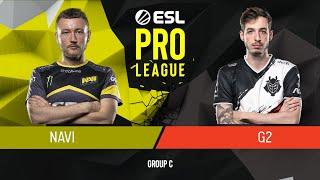 CS:GO - Natus Vincere vs. G2 Esports [Overpass] Map 3 - Group C - ESL Pro League Season 9 Europe