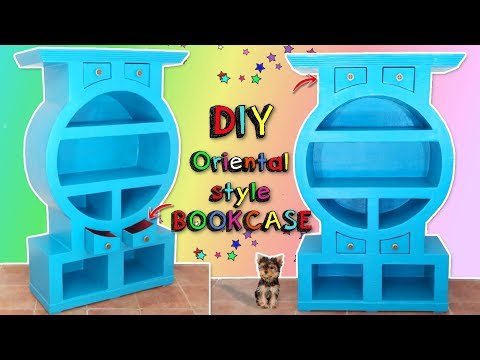 DIY AWESOME ORIENTAL FURNITURE MADE WITH CARDBOARD - HOME DECOR CRAFTS -  DIY CHINESE STYLE BOOKCASE