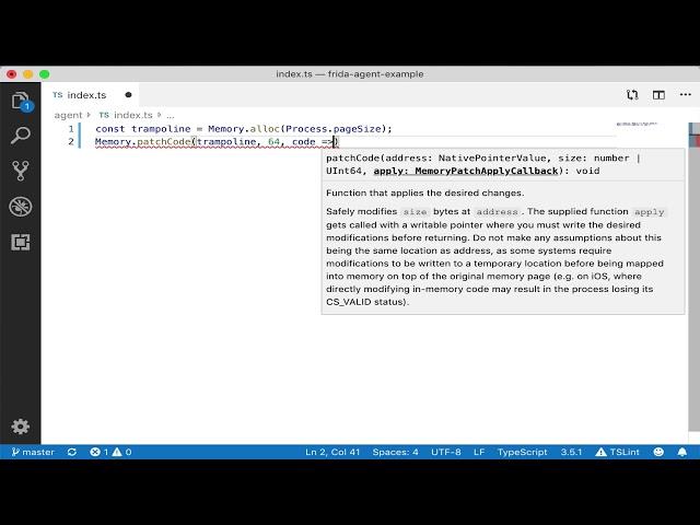 Frida TypeScript demo