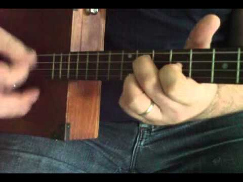 4 string blues tricks pt. 2  - How to Play Cigar Box Guitar by Shane Speal