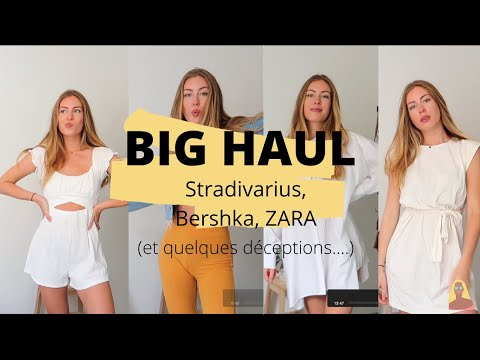 HAUL AND TRY ON (Zara ; Stradivarius ; Bershka)