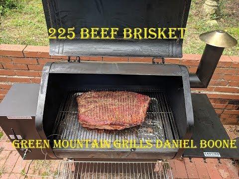 225 Smoked Beef Brisket Recipe, Green Mountain Grills Daniel Boone