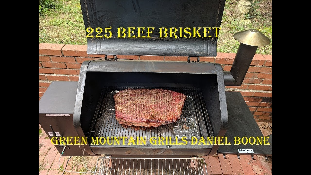 225 Smoked Beef Brisket Recipe Green Mountain Grills Daniel Boone