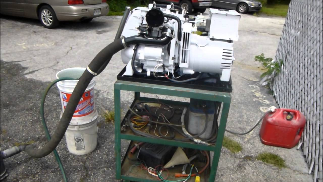 Kohler Gas Marine Generator Model 4esz 149 Hours