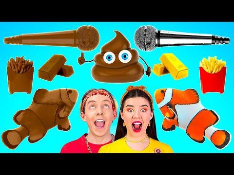 ชาเลนจ์ช็อคโกแลต VS อาหารธรรมดา || ใครหยุดกินก่อน แพ้ ! หม่ำของหวาน 24 ชั่วโมง โดย 123 GO! BOYS