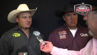 John Robertson & Dustin Bird Post Top Time in Team Roping in Performance 2
