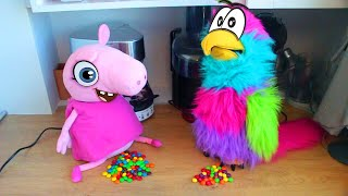 Дий Радуга из конфет Новый спиннер из ПлейДо - Реальная жизнь Свинки Пиги #5