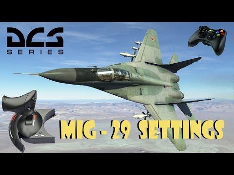 DCS WORLD - MIG 29 NEVADA / XBOX 360 GAMEPAD & T.FLIGHT HOTAS THROTTLE SETTINGS