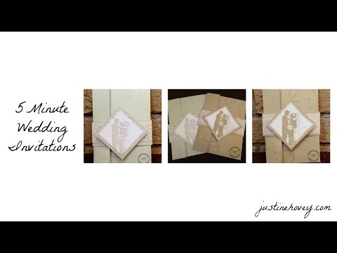 5 Minute Handmade DIY Easy Wedding Invitations + Giveaway