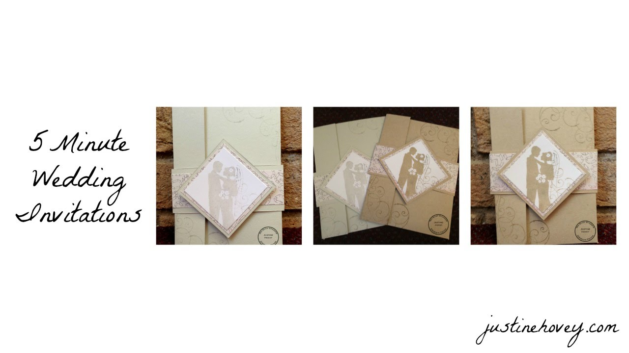 5 Minute Handmade DIY Easy Wedding Invitations + Giveaway - YouTube