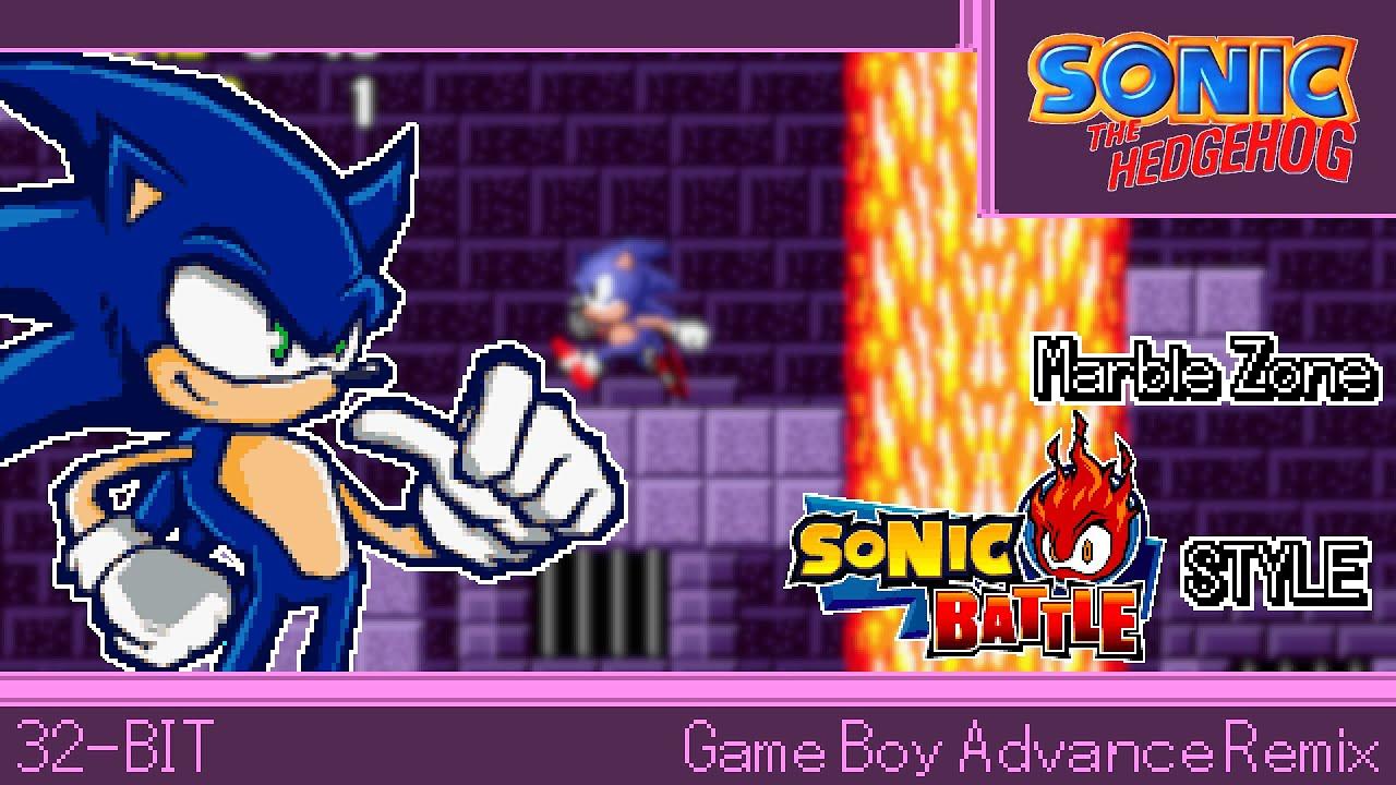 32 Bit Gba Marble Zone Sonic The Hedgehog Sonic Battle Style Youtube