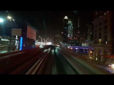 Dubai metro dream night