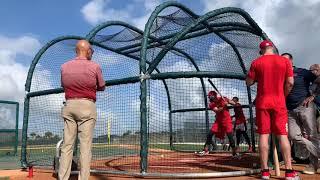 Video: Carpenter and Wong take batting practice