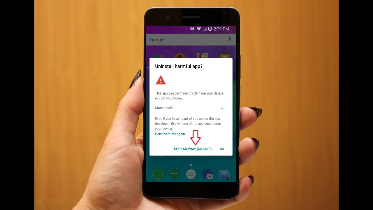 """How to Fix """"Uninstall Harmful App"""" Error Notification Message in Android  Phone"""