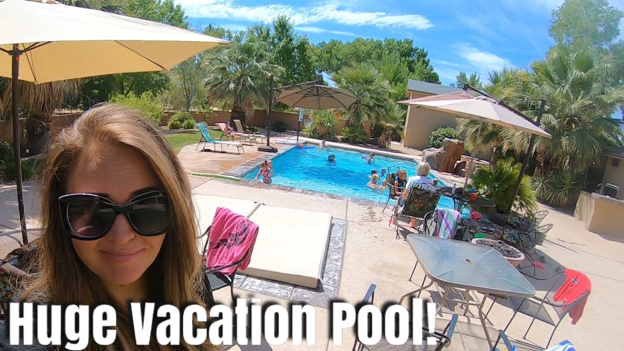 Huge Backyard Pool at Our Spacious Vacation Home! / The End of Our Epic Week-long Vacation