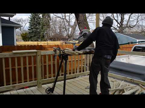Building deck rails and spindals