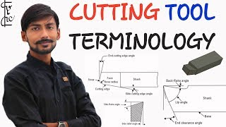 [HINDI] CUTTING TOOL TERMINOLOGY~BACK RAKE, SIDE RAKE, END RELIEF, SIDE RELIEF & CUTTING EDGE ANGLE