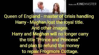 Queen of England - mester for krisehåndtering Harry - Meghan mistet de