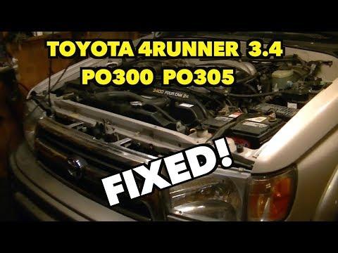 Toyota 4Runner 3 4 Random Miss-fire P0300, P0305   ~Miss-fire Ghost~ Fixed!