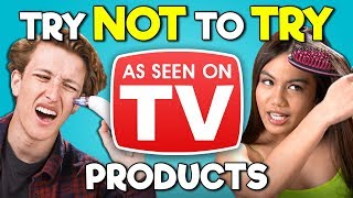 Download Teens React To Try Not To Try Challenge - As Seen On TV Products Mp3 and Videos