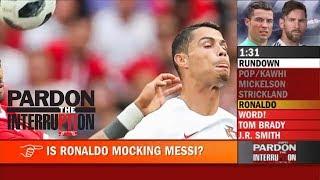 Was Cristiano Ronaldo mocking Lionel Messi? | Pardon the Interruption | ESPN