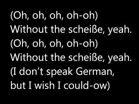 Lady Gaga   Scheiße   Lyrics on screen