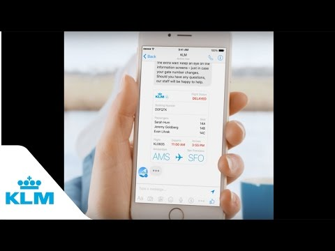 KLM Flight Status Updates On Messenger