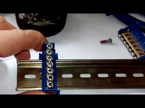 Как закрепить нулевую шину в щитке