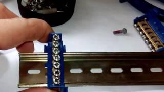 установка/монтаж нулевой шины на DIN-рейку