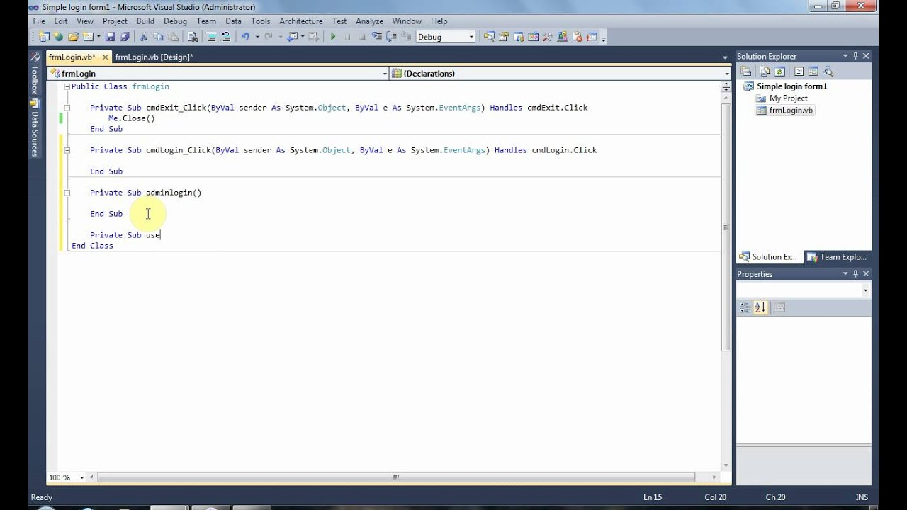 visual studio 2010 tutorial pdf free download