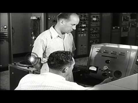 Jan Hajdukiewiez visits with staff of Voice of America (VOA) relay station, in On...HD Stock Footage