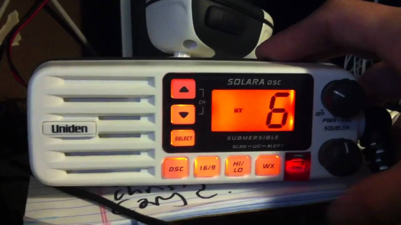 uniden solara dsc marine radio vhf 25w [ 1280 x 720 Pixel ]