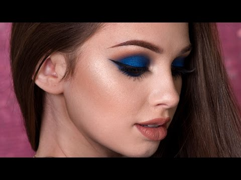 navy-blue-smokey-eye-makeup-tutorial