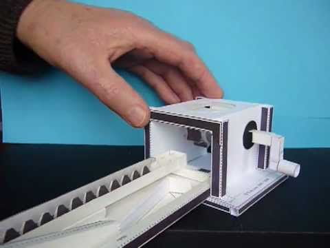 Papercraft Rack & Pinion, drive for paper model