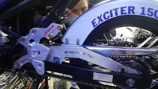 [Đồ chơi xe] Độ xe máy Exciter 150 ở Gò Vấp TPHCM| Hoàng Phúc Decal