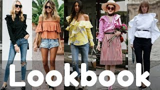Summer Ruffle Blouse Outfit Ideas Trends 2018 | Summer Fashion Lookbook