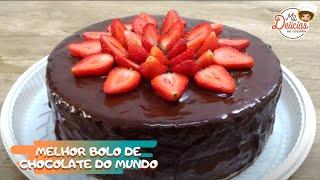 BOLO DE CHOCOLATE + MORANGO - MIL DELÍCIAS NA COZINHA  #bolodefesta  #bolodechocolate