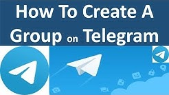 Creating a group on Telegram