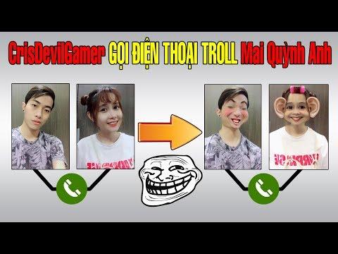 CrisDevilGamer gọi điện thoại troll Mai Quỳnh Anh | Thánh Troll CrisDevilGamer