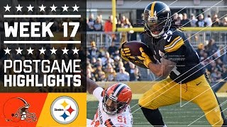 Browns vs. Steelers | NFL Week 17 Game Highlights