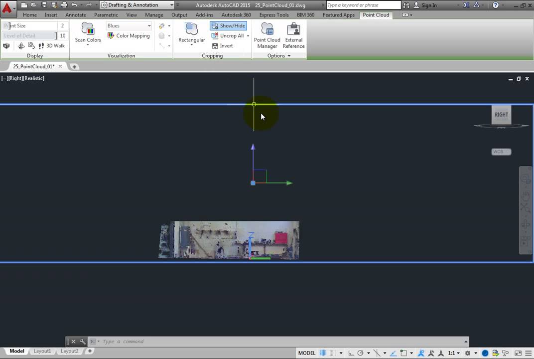 how to crop pdf autocad