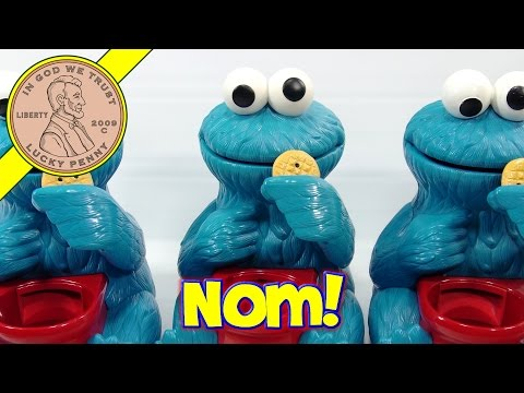 Sesame Street Cookie Monster Crunch Game #42309, 1999 Fisher Price