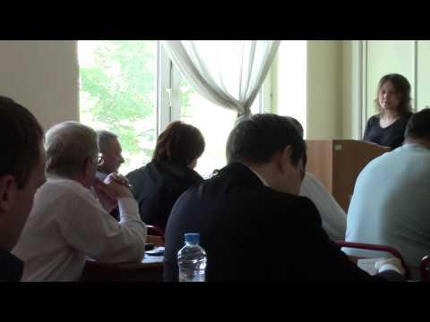 Защита магистерской диссертации Таня 2014