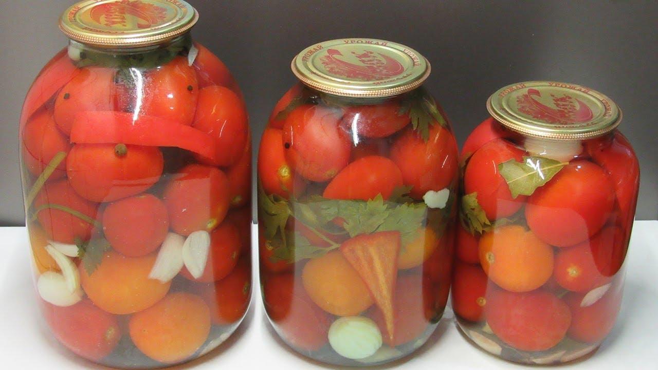соление помидоров в банках без уксуса