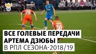 Все голевые передачи Дзюбы в РПЛ сезона-201819 l РФС ТВ