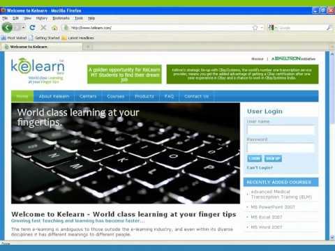 Demo Of KeLearn - Kerala State Electronics Development Corporation's (KELTRON) E-learning Portal