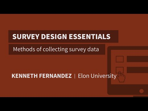 Methods of collecting survey data